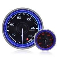 52mm Crystal Blue Peak/Warning Water Temperature Gauge °C