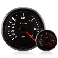 52mm Deluxe Traditional Amber/White Turbo Boost Gauge (BAR)