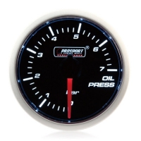 52mm Smoked Super White (Air Code) Oil Pressure Gauge (BAR)
