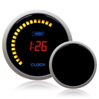 52mm Smoked Digital Red LCD Clock