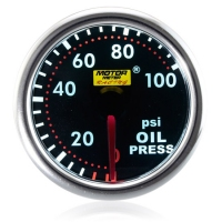 52mm Smoked Super White Oil Pressure Gauge (PSI)