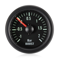 52mm Traditional Green Turbo Boost Gauge (Bar)