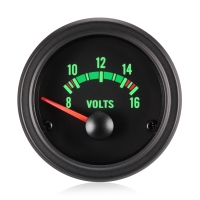 52mm Traditional Green Voltage Gauge (12V)