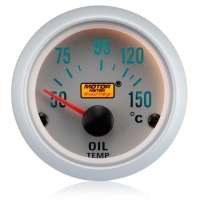52mm Silver Face Oil Temp Gauge (°C)