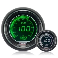 52mm Evo LCD Green / White Water Temperature Gauge (°C)
