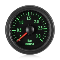 Diesel 52mm Traditional Green Boost Gauge Bar 0-3 Bar
