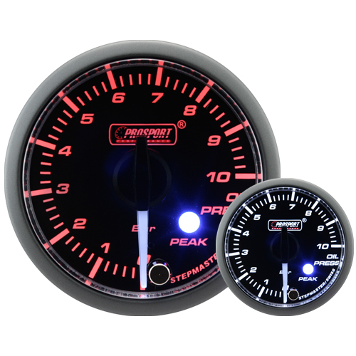 52mm Clear Lens Stepper Motor (Peak) Oil Pressure Gauge (BAR)