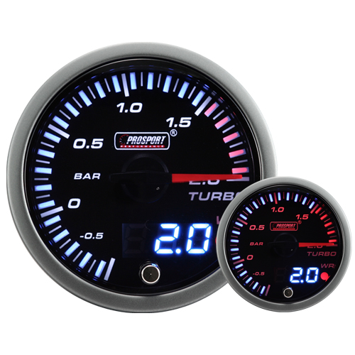 JDM Dual Stepper Motor Warning Boost Gauge (Bar)