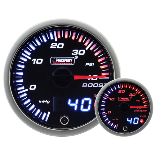 JDM Dual Stepper Motor Warning Boost Gauge (Psi)