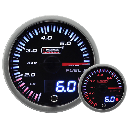 JDM Dual Stepper Motor Warning Fuel Pressure Gauge (BAR)