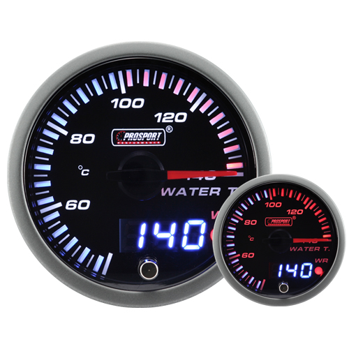 JDM Dual Stepper Motor Warning Water Temp Gauge (