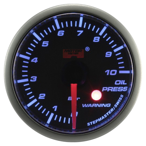 52mm Stepper Motor Super Blue (Warning) Oil Pressure Gauge
