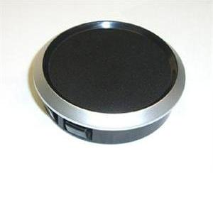 52mm Gauge Blank (Silver Rim/Black Face)