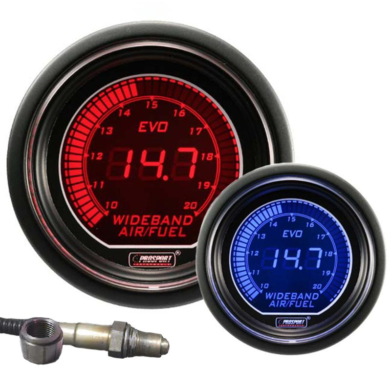 52mm Evo LCD Red / Blue Wideband AFR Kit (With Output)