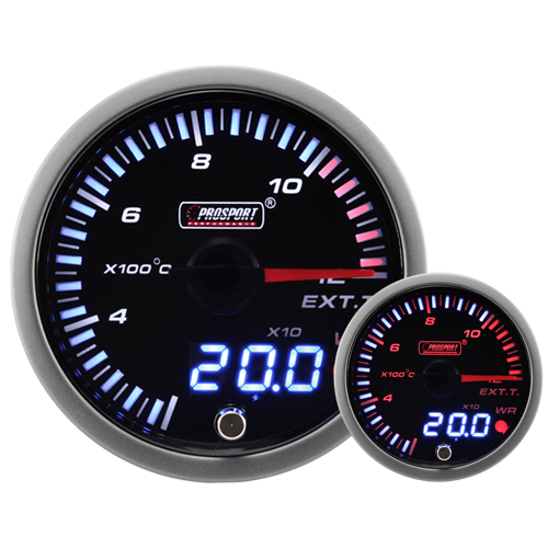 JDM Dual Stepper Motor Warning Exhaust Temp Gauge (