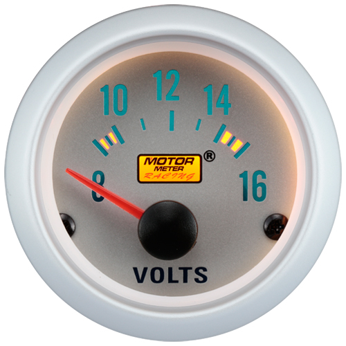 52mm Silver Face Voltage Gauge