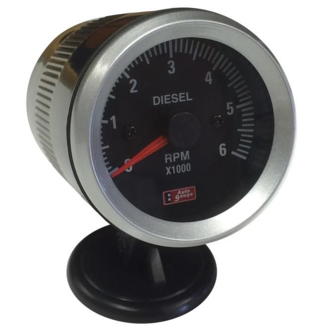 52mm Black Faced Diesel Tachometer / Rev Counter