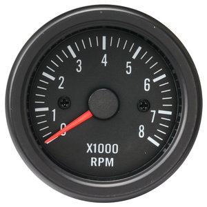 52mm Clear Lens / Black Face Rev Counter